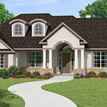 3000+ Sq Ft, 4 Bed, 3 Bath, 1 Story Floor Plan