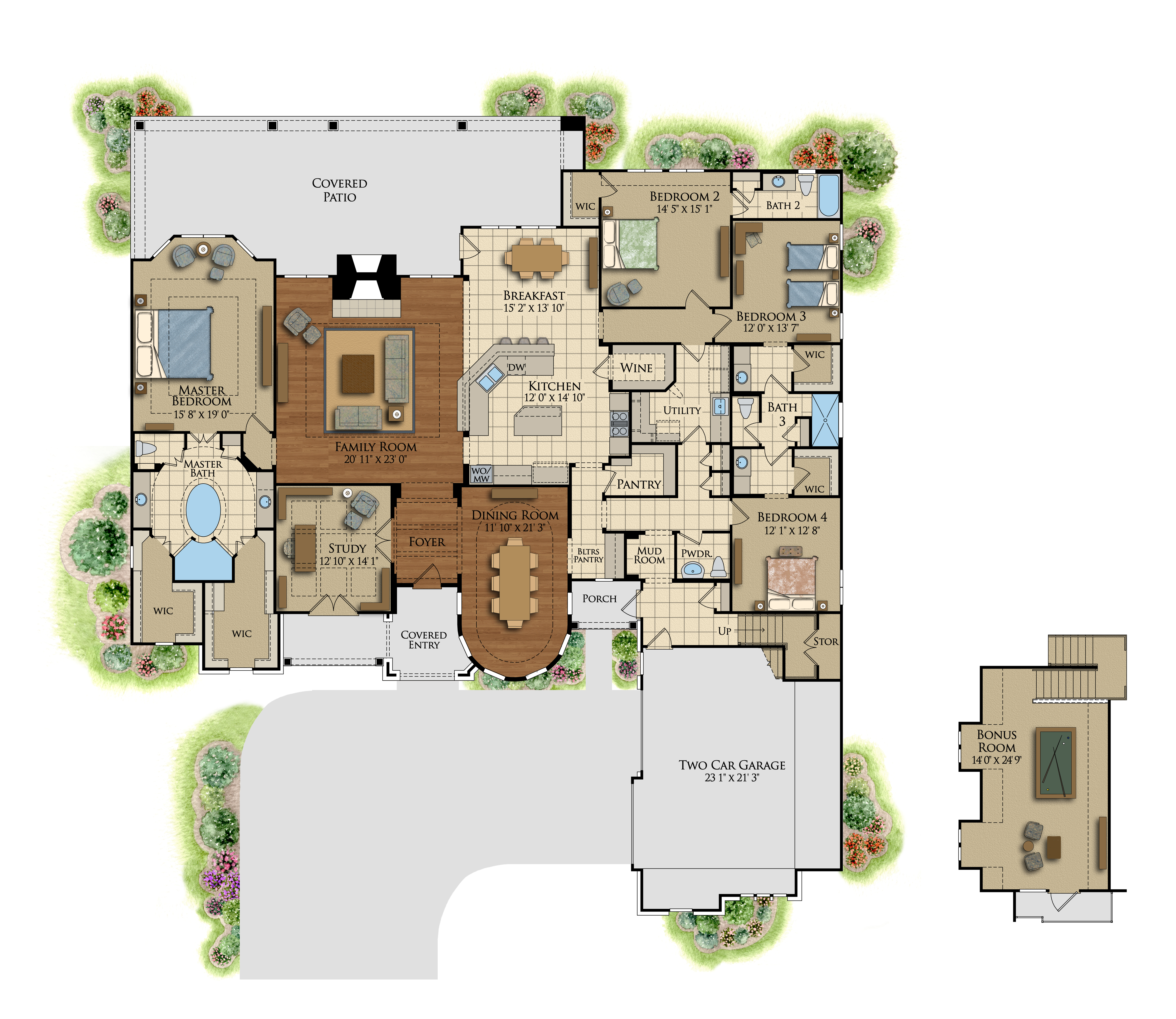 the ashby manor – luxury house plans, 4000 sq ft | design tech homes