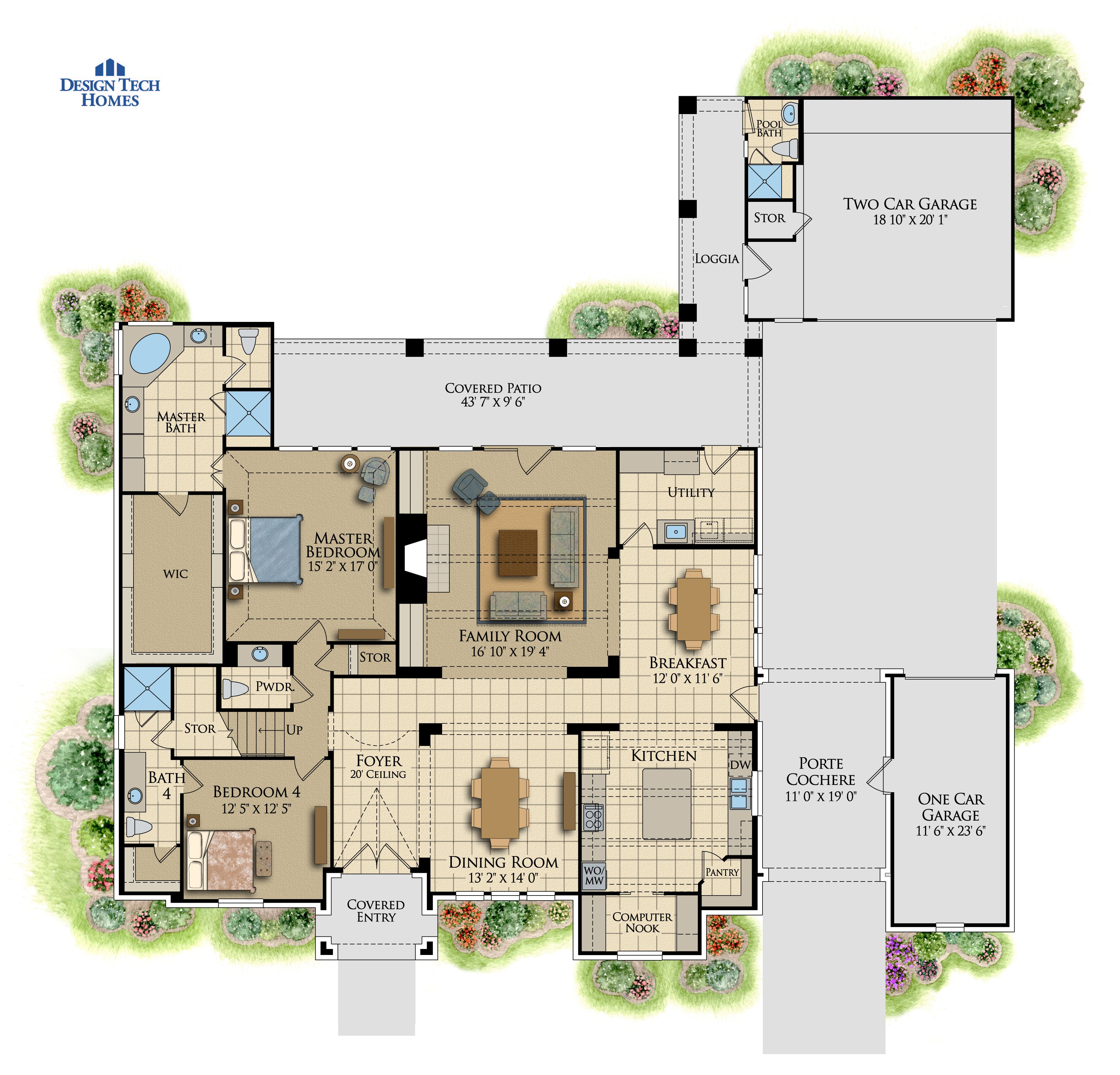 3,929 Sq Ft House Plan - 4 Bed 4 Bath, 2 Story - The Calais | Design ...