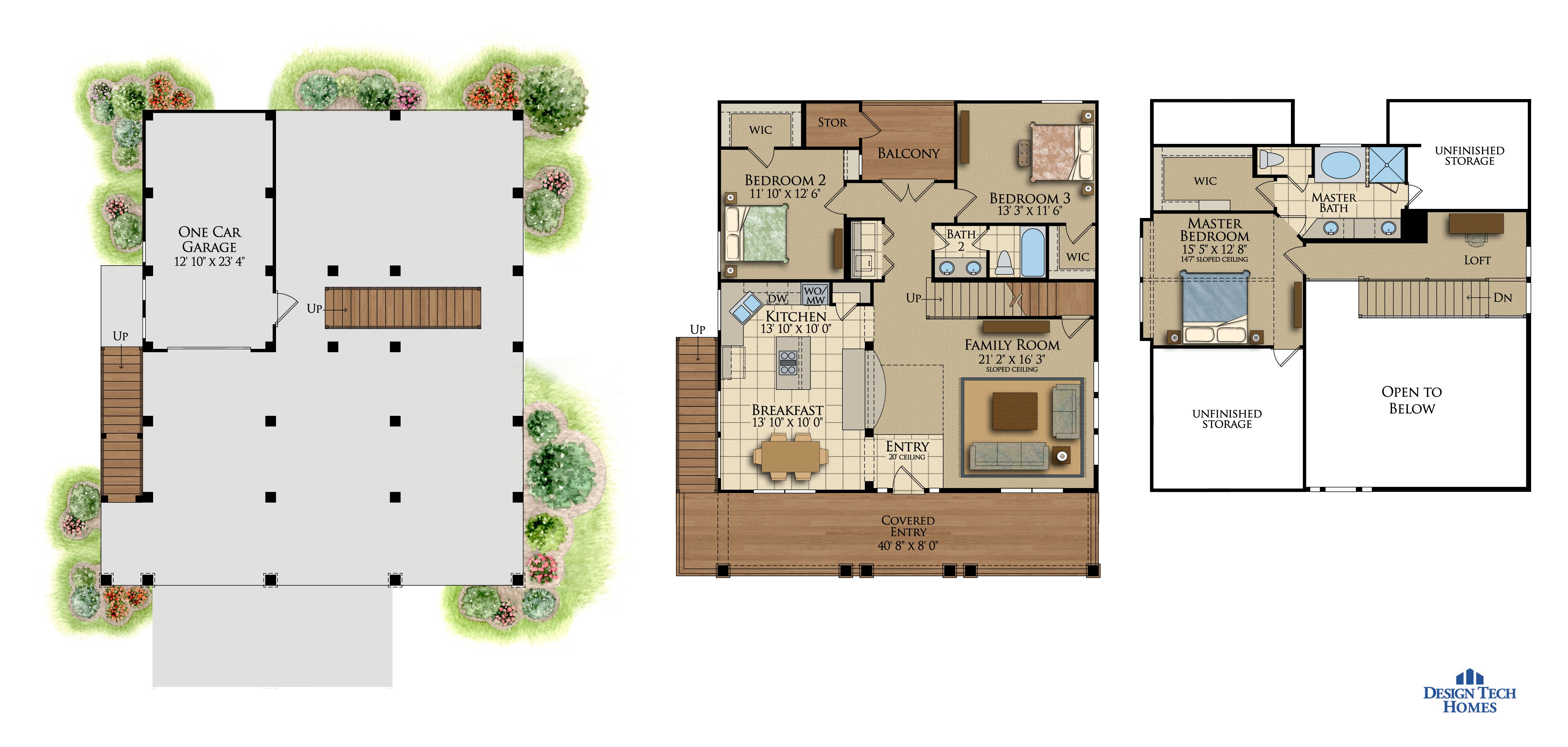 1,815 Sq Ft House Plan - 3 Bed 2 Bath, 1 Story - The Cape Pointe ...