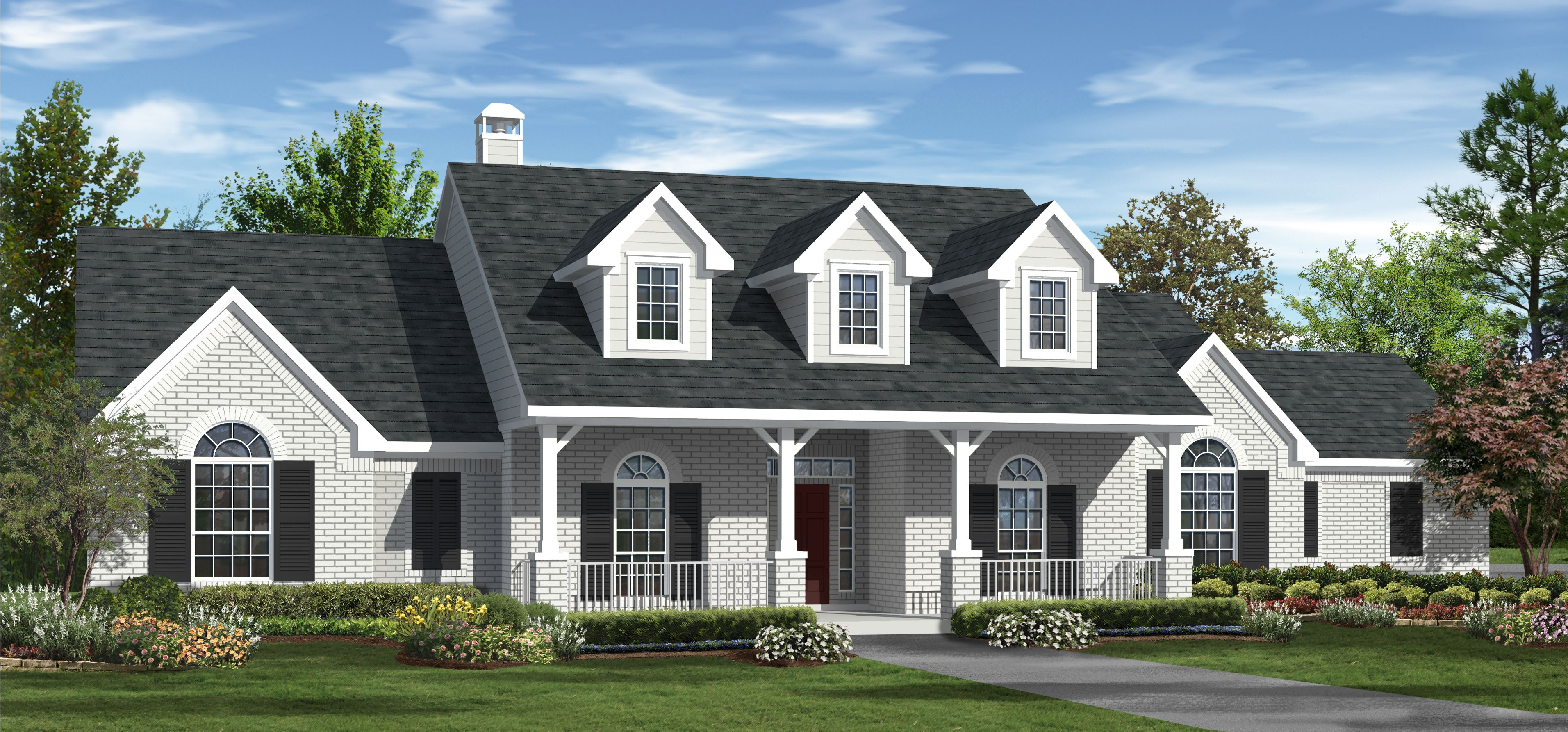 2 504 sq ft house plan 4 bed 3 bath 1 story the for Carrington homes