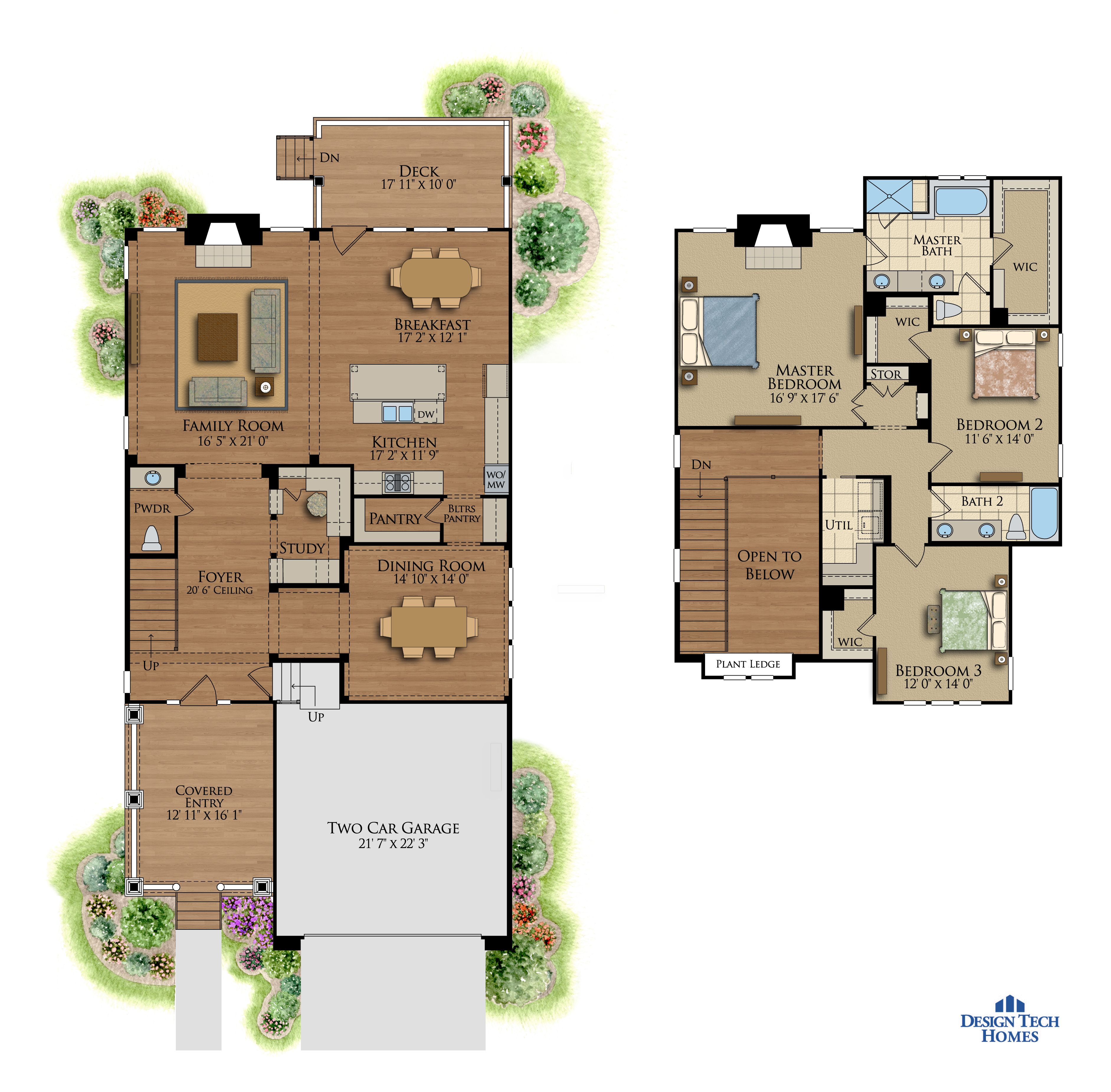 2,736 Sq Ft House Plan - 3 Bed 2.5 Bath, 2 Story - The Centennial ...