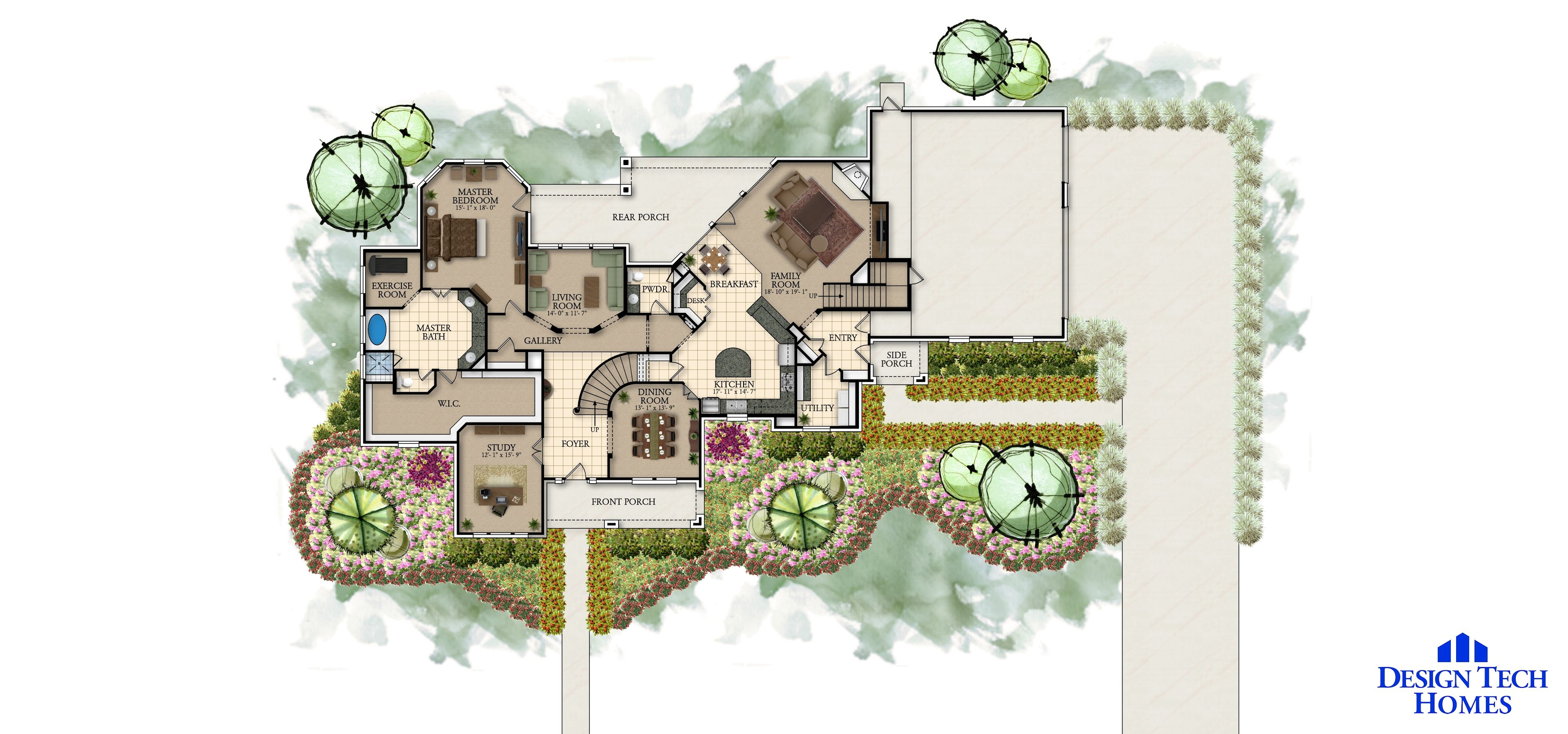 The Heritage 4000 Sq Ft Luxury House Floor Plans