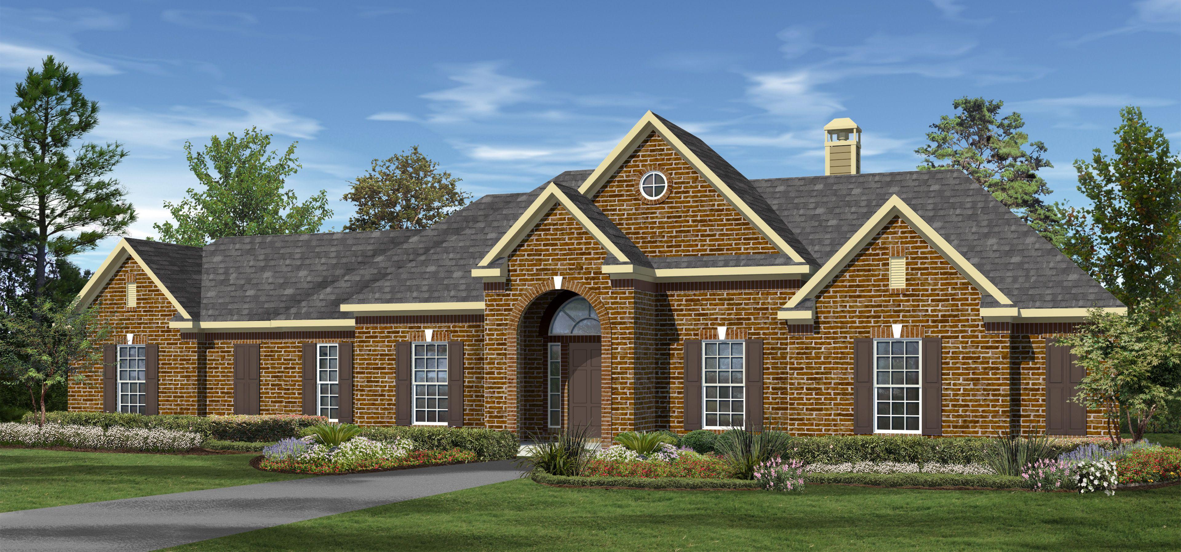The oakmont 2000 plus sq ft custom home plans design for The oakmont