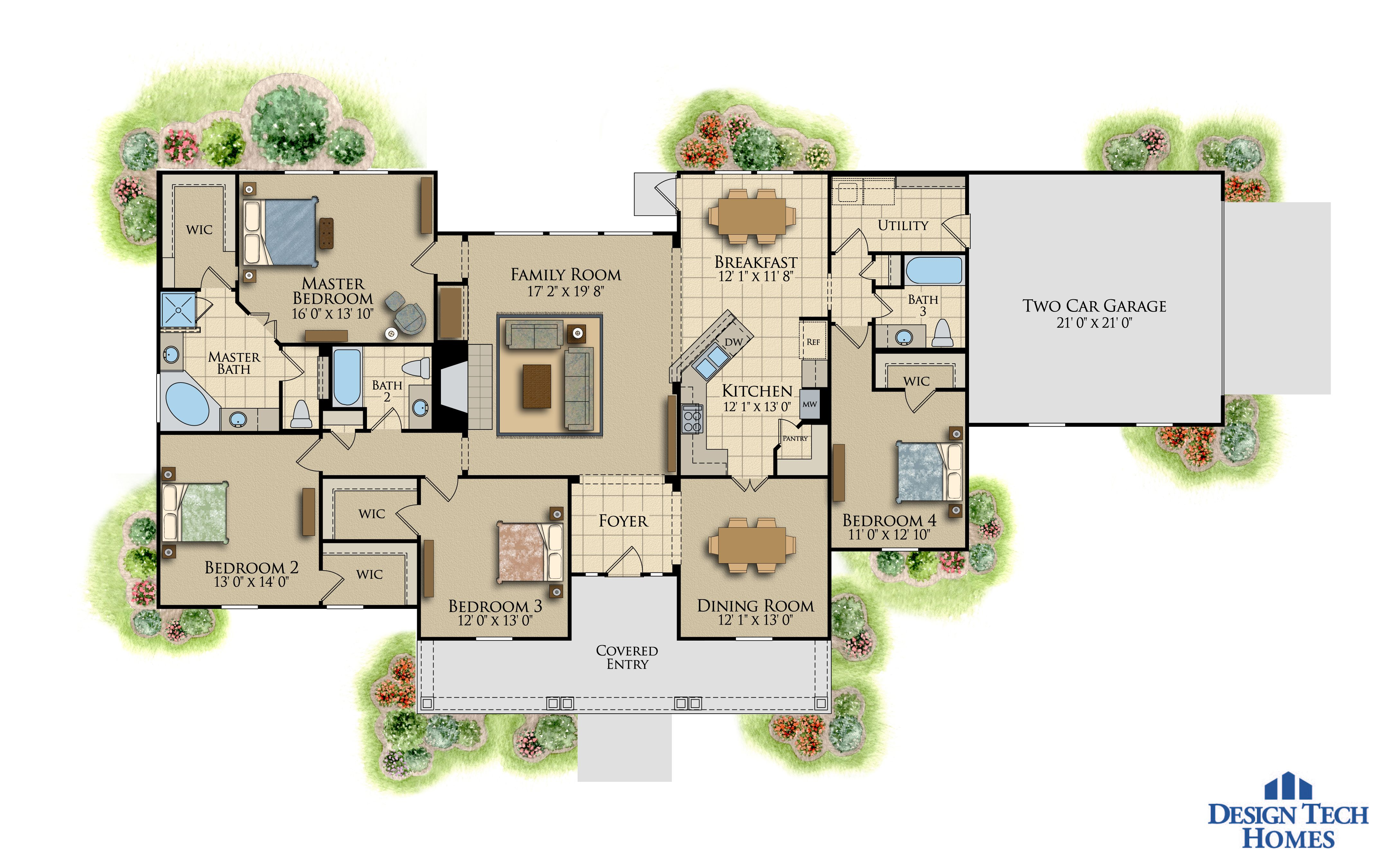 The Saddlebrook 2000 Plus Sq Ft Boyl Floor Plans