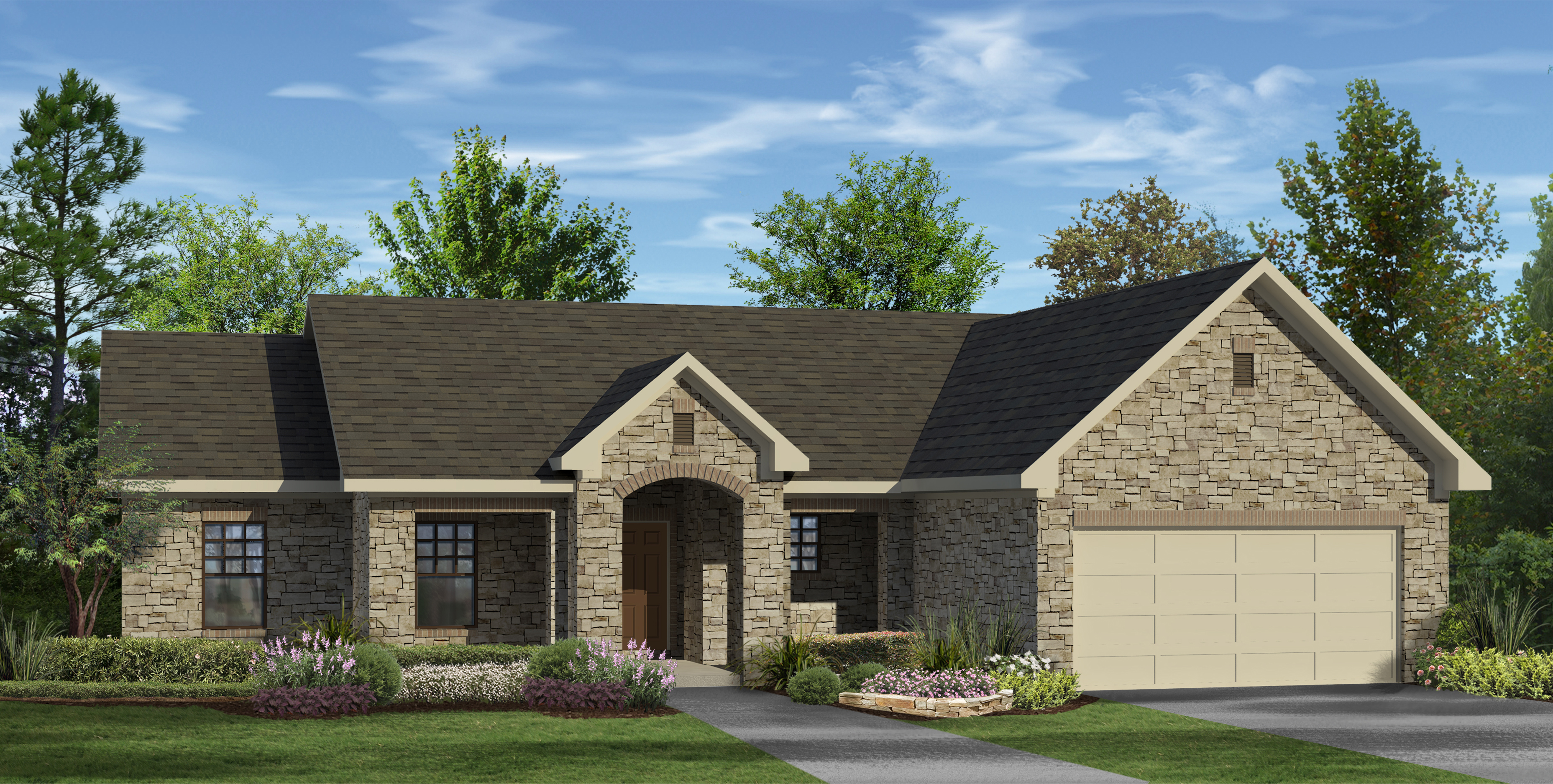 1 534 sq ft house plan 4 bed 2 bath 1 story the for Houston custom home builders floor plans
