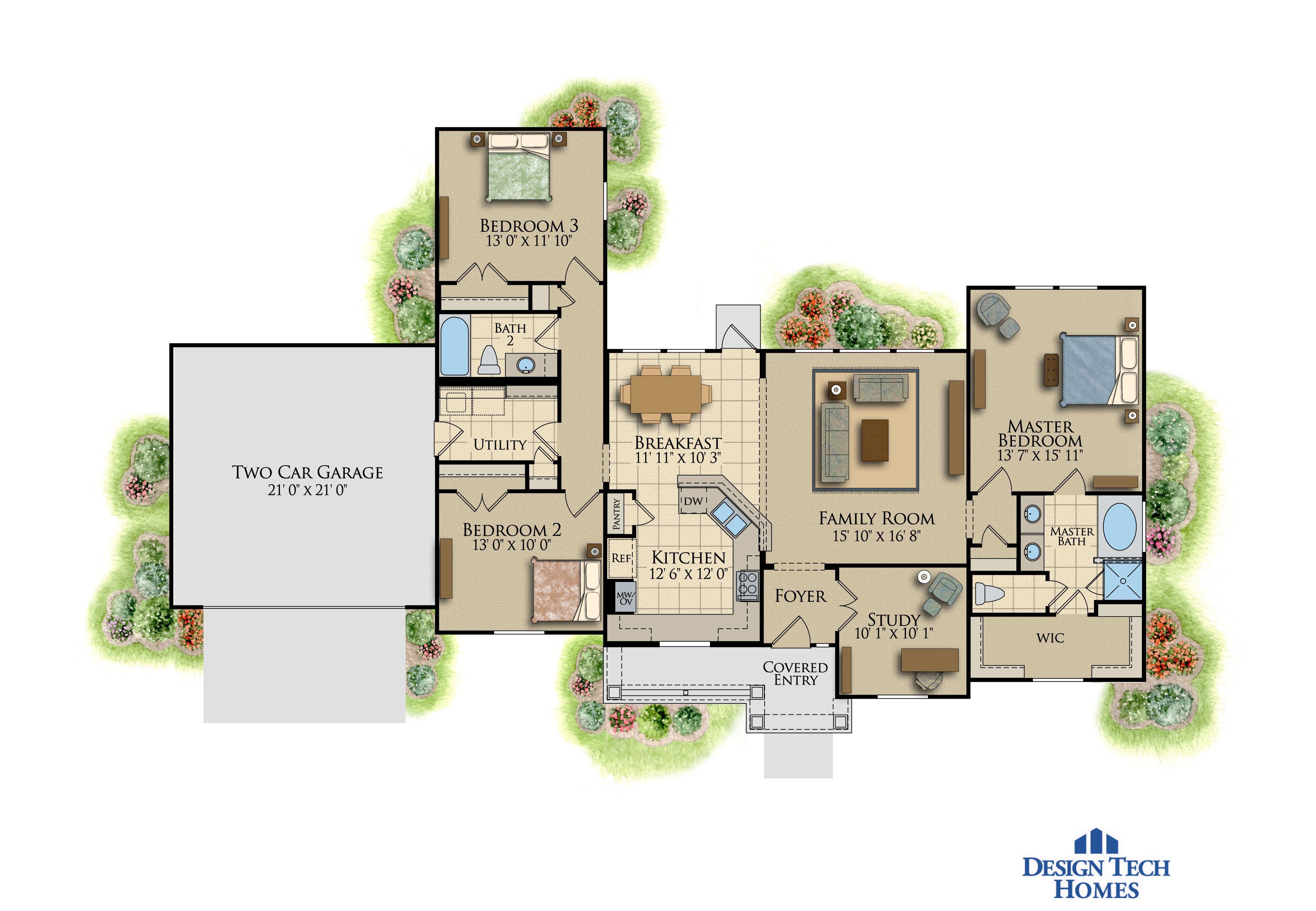 The Summerhill   Sq Ft Custom House Plans Design Tech Homes - Design tech homes pricing