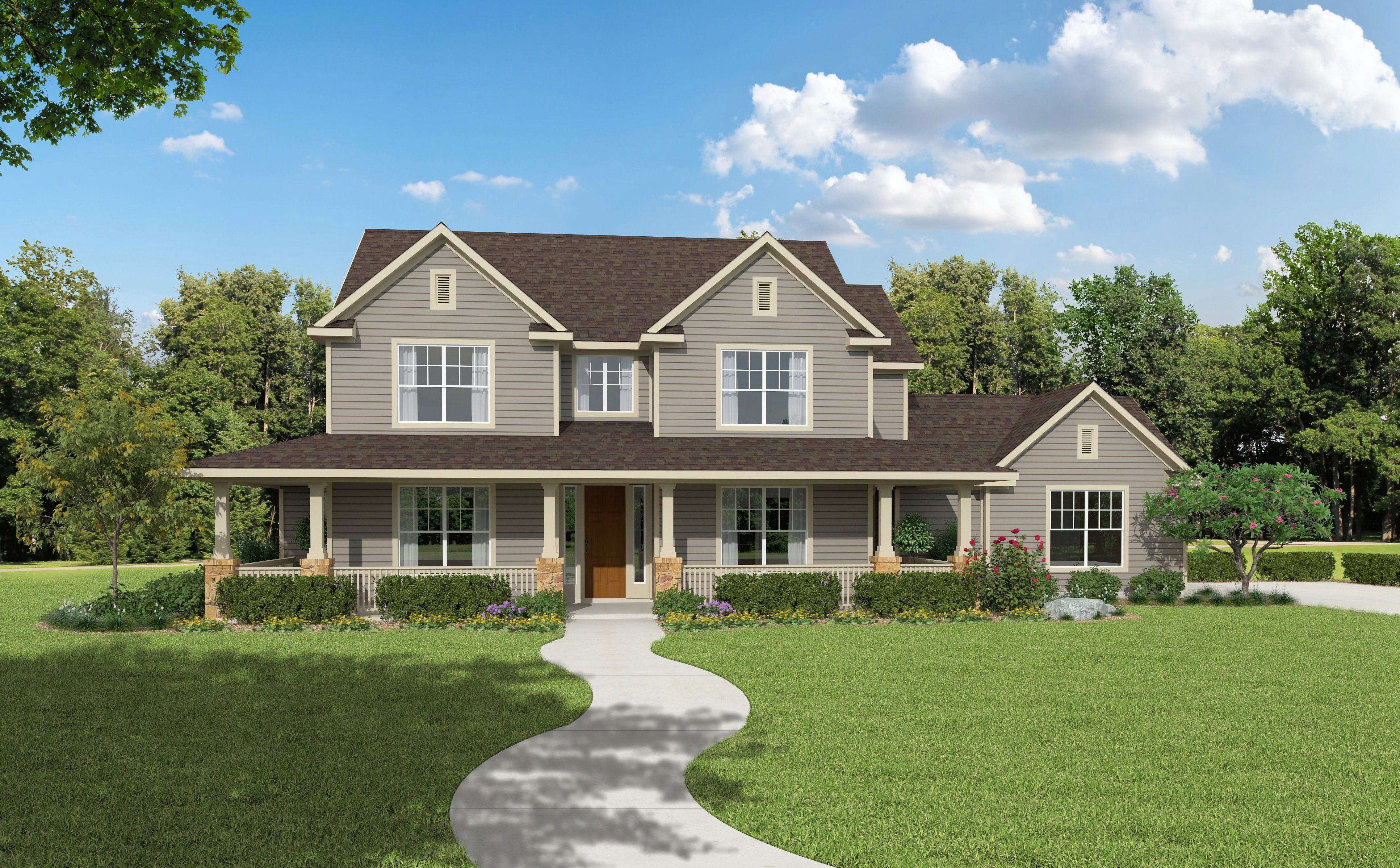 100 Farmhouse Elevations Duplex House Plan And