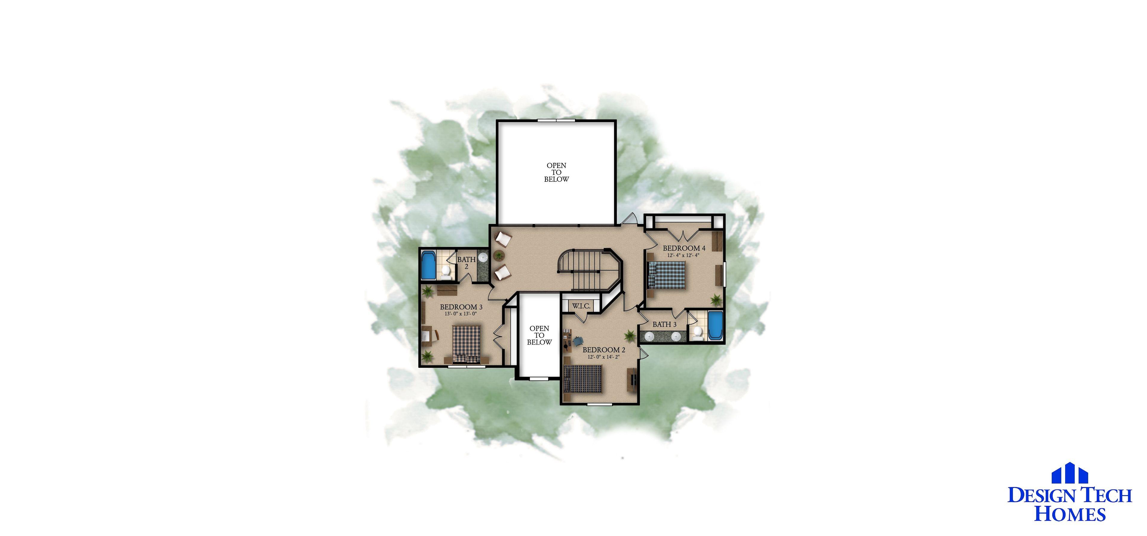 3,271 Sq Ft House Plan - 4 Bed 3.5 Bath, 2 Story - The Woodbridge ...