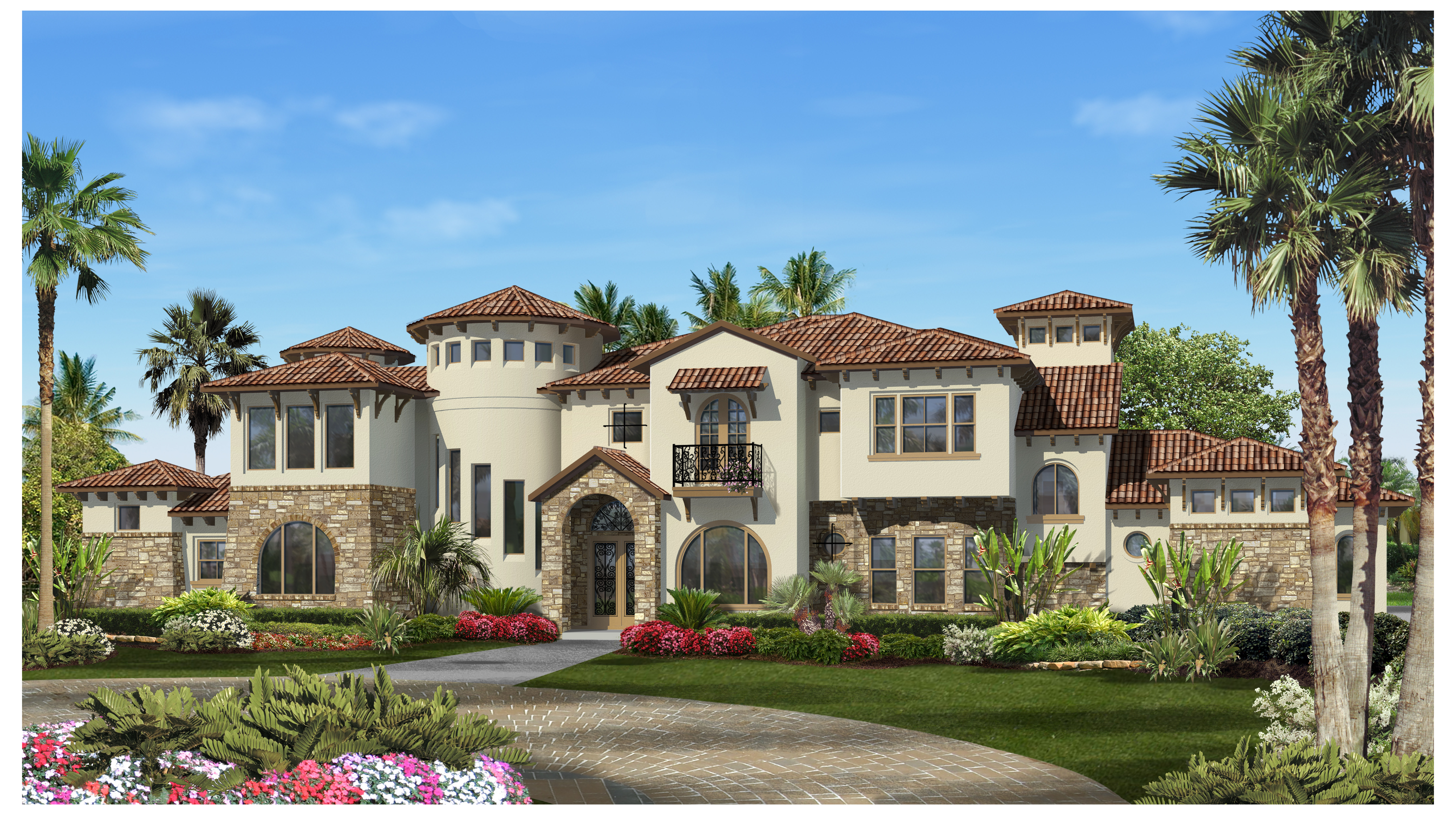 6 159 sq ft house plan 5 bed 4 2 half bath 2 story for Lago vista home builders