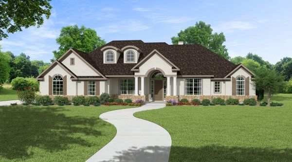 2 984 sq ft house plan 4 bed 3 bath 1 story the for 3000 square foot house