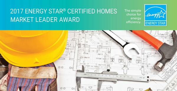 Design Tech Homes Earns the 2017 Energy Star Market Leader Award