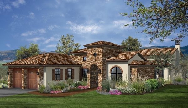 3 240 sq ft house plan 3 bed 4 5 bath 1 story the for Custom one story homes