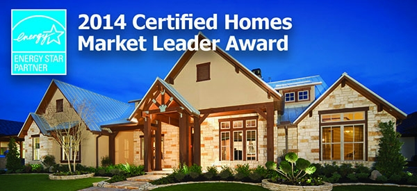 Design Tech Homes Recognized with a 2014  ENERGY STAR®  Certified Homes Market Leader Award