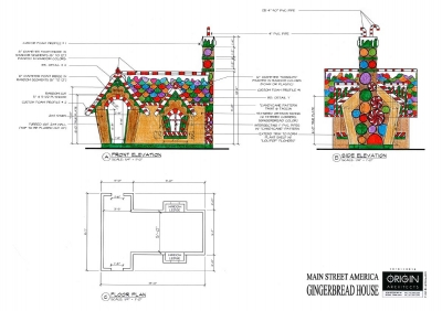 Origin Architects Building Gingerbread House for Christmas on MainStreet