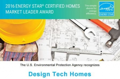 Design Tech Homes has Earned the 2016 ENERGY STAR Certified Homes Market Leader Award