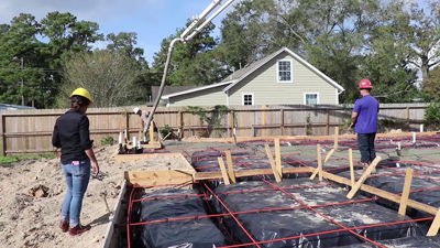Concrete Placement with Pump Truck for Home Slab