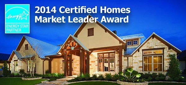 Design Tech Homes Recognized with a 2014  ENERGY STAR®  Certified Homes Market Leader Award 1