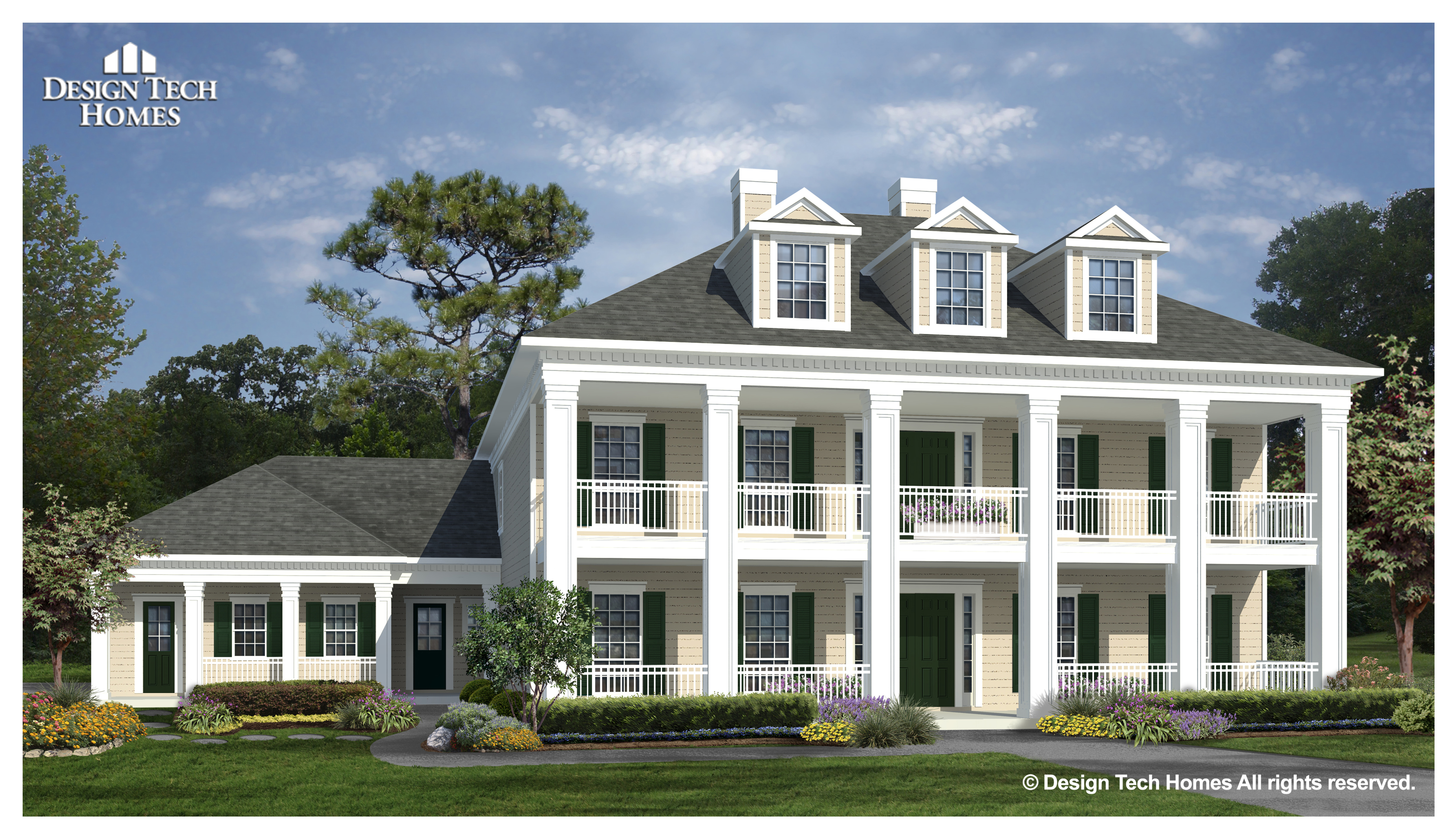 Elevation A - Greek Revival