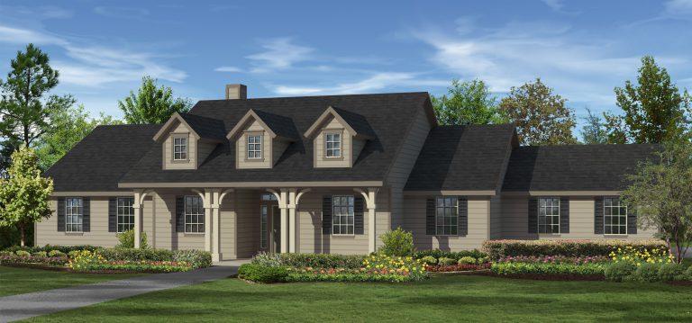 Elevation A - Cottage